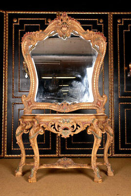 Venetian Wall Mirror with Console in the Louis Quinze Style