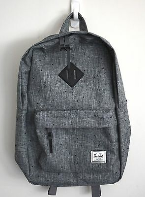 HERSCHEL SUPPLY CO HERITAGE 14.5L CROSSHATCH GREY BACKPACK MSRP  60 NEW  w TAG! a2794ce9d8003
