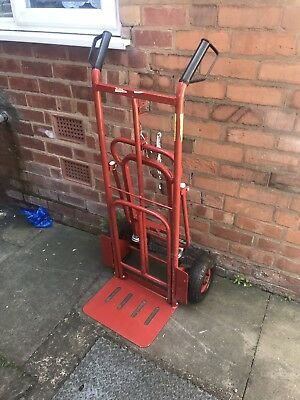 CST989 Sealey Sack Truck 3-in-1 with Pneumatic Tyre 250kg Capacity