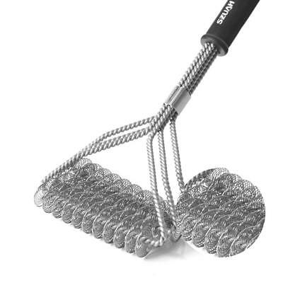 """SZUAH BBQ Grill Brush, Bristle-Free Grill Cleaner, 18"""" Stainless Steel Barbecue"""