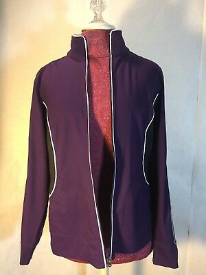 SJB Active Long Sleeve Eggplant Purple Women's Lightweight Jacket, Size M      G