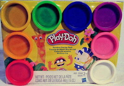 Play-Doh Rainbow Starter Pack 8 Pack 16 Oz Total Age 2+ Free Fast Shipping New!