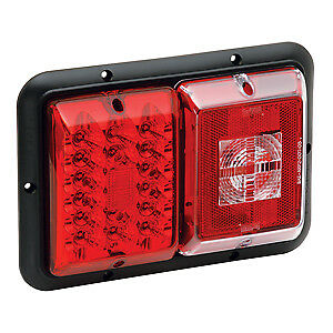 Bargman 4784008 Tail Light, LED, #84 Double w/ Backup, Hor Mount, Red RV