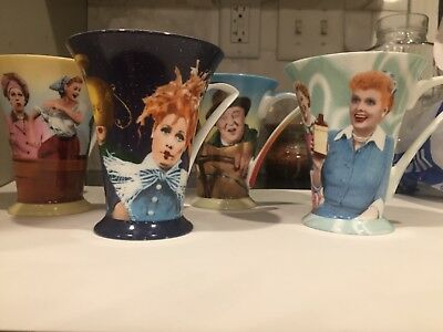 I Love Lucy collectibles coffee mugs set of 4