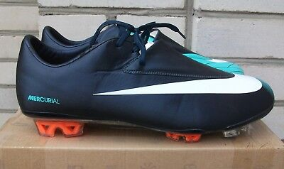 new style 67940 7338e Men s Nike Mercurial Vapor VI Dark Obsidian White Cool Mint FG US11 UK10  CLEATS