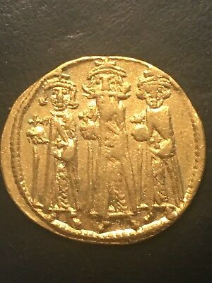 GOLD Ancient Roman Byzantine Coin Solidus Heraclius