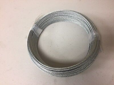 """Galvanized Wire Rope Cable, 3/32"""", 7x7, 50 ft coil"""