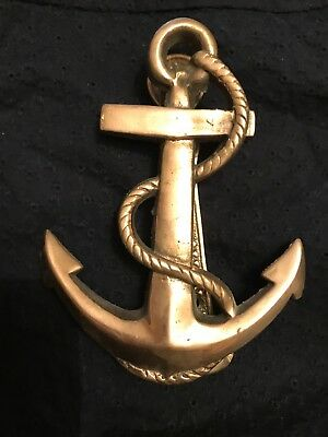 Antique Vintage Style Cast Brass Anchor Door Knocker