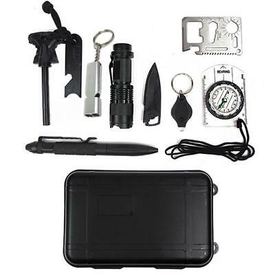 10-in-1 Survival Kit Multi-Purpose EDC Outdoor Emergency Tools go bag