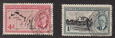 Turks & Caicos Islands - 1950 - SC 111,113 - Used