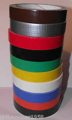 19mm x 10m Duck Duct Gaffa Gaffer Waterproof Cloth Tape Choice Of 9 Colours
