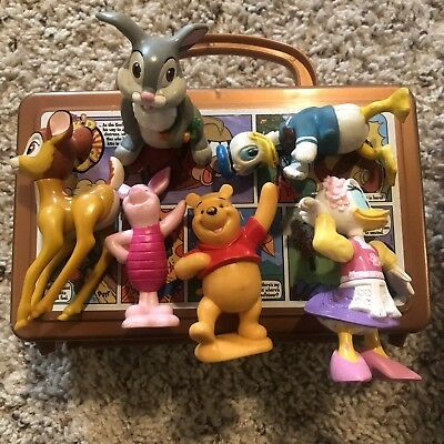 Lot Of Vintage Disney Toys Plus Lunchbox- Collectible Characters SUPER COOL