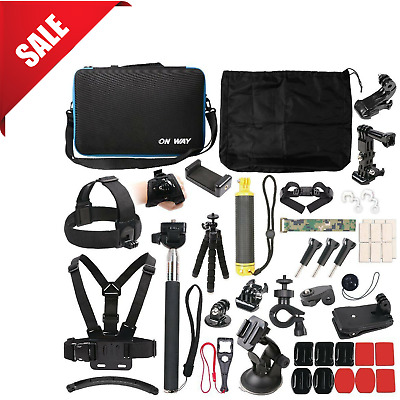 GoPro Hero Accessories Kit 6 5 4 Bundle 51 In 1 Outdoor Action Camera Sports