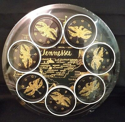 Vintage Norex TENNESEE Serving Tray And Coasters. New In Package