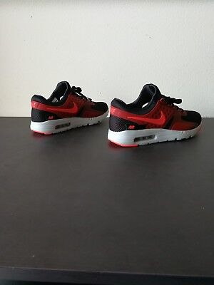 the best attitude 59ed8 baae5 MEN'S NIKE AIR Max Zero Essential Running Shoe Size 9 Black Red White  876070 007