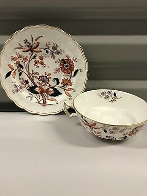 Booths FRESIAN Cream Soup Bowl & Underplate Plate Saucer England Vintage A8022