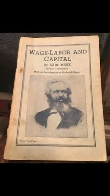 """""""Karl Marx"""" booklet; 1935; """"Wage-Labor and Capital""""; 59 pgs; 5"""" x 7""""; GOOD+"""