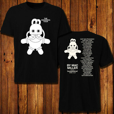 mac miller the swimming Tour 2018 T-shirt 2 side all size