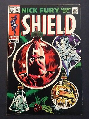 "Nick Fury, Agent of SHIELD #10 (Mar 1969, Marvel) CLASSIC ""SMITH"" ARTWORK LAYOUT"