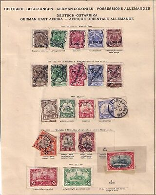 Germany 1893-1906 East Africa/Ostafrika Stamps,RARE 1ST PAGE ,Used&Mint,HCV!