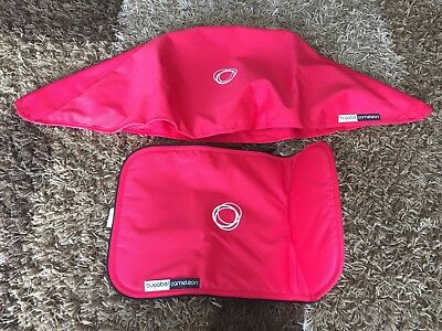 Bugaboo Cameleon Coral fabric set canopy and bassinet apron cover