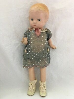 """9"""" Composition Doll Unmarked Patsyette Patsy Clone Doll ?"""