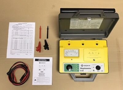 Brand New Greenlee Megohmmeter 5990 50076655 With Original Box And Case