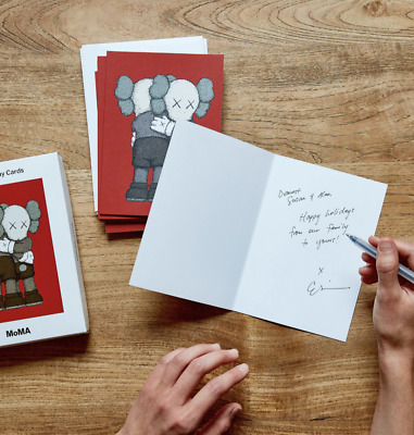KAWS TOGETHER Christmas Cards 12 Total Cards in Sealed Box With Envelopes