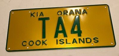 Cook Islands Taxi License Plate