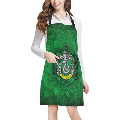 Harry Potter Slytherin Kitchen Apron Pockets Fully Adjustable Working Clothing