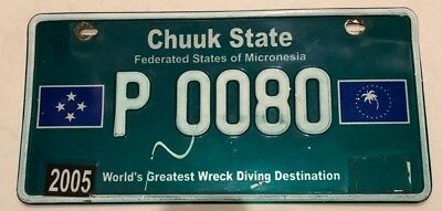 2005 Chuuk State Federated States of Micronesia License Plate