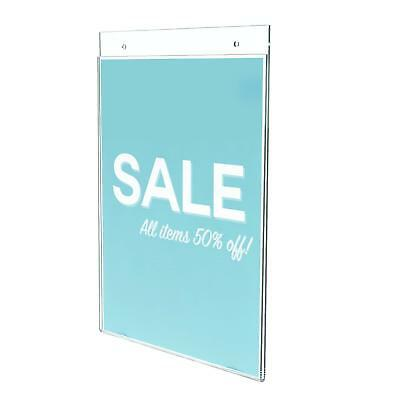 """Deflecto Classic Image Wall Mount Sign Holder, Single-Sided, Vertical, 8.5"""" x"""