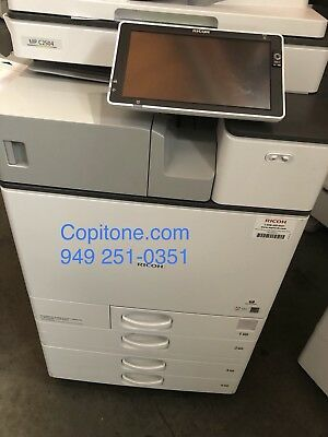 Ricoh mpc2504,low meter,color copier,printer, scan, finisher
