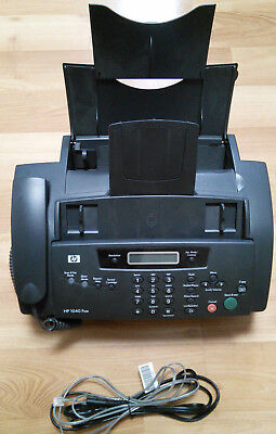 Used HP Inkjet Fax Machine 1040 Plain Paper TESTED & WORKS