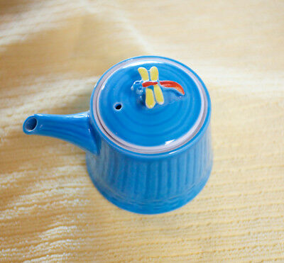 Japanese Teapot Miniature Porcelain with Honeybee Lid