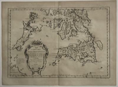Southern Philippines 1752 Jacques Nicolas Bellin Antique Copper Engraved Map