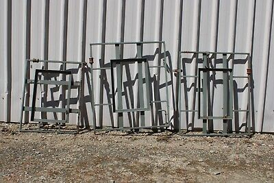 3 X Vintage Gate Small Wrought Iron White Steel Box Path Retro Plant Frame