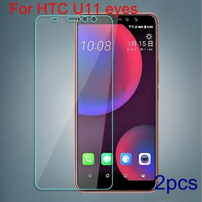 2X Premium Explosion-proof Tempered Glass Film Screen Protector For HTC U11 eyes