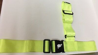 Safety Patrol Belt Sash & Hat (AAA) American Automobile Association Neon Green