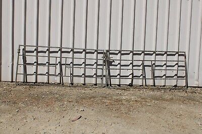 Vintage Wrought Iron Driveway Gates Curly Retro Garden Creeper Frame Trellis