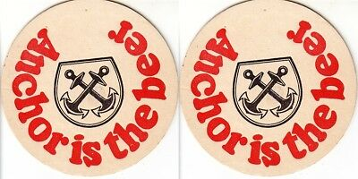 Anchor Beer - Anchor is the best Round Australian issued Coaster - Beer Mat