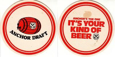 Anchor Draft - It's your kind of Beer Round Australian issued Coaster - Beer Mat