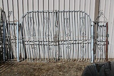 Massive Vintage Wrought Iron Driveway Gates Curly Retro Garden Creeper Frame