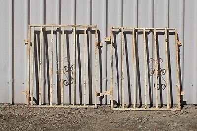 Vintage Steel Fence Panels Curly Retro Garden Creeper Frame Trellis Wrought Iron