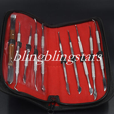 Dental Lab Equipment Surgical Wax Carving Tools Set Sculpture Knife Instructment