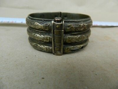 Antique Scarce 18th Century Silver and Bronze Bridal Bracelet