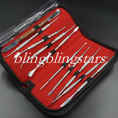 Wax Carving Tools Dental Lab Knife Equipment Surgical Set Sculpture Instructment