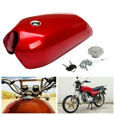 Universal Motorcycle Fuel Petrol Gas Tank Gloss Red For Honda CG125 Cafe Racer