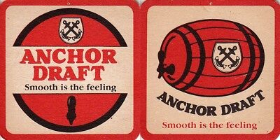 Anchor Draft - smooth is the feeling Square Beer Coaster- Beer Mat