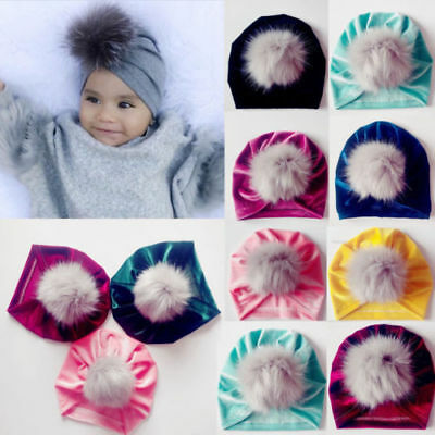 Velvet Soft Baby Girls Kids Toddler Bow Hairband Headband Turban Knot Head Wrap